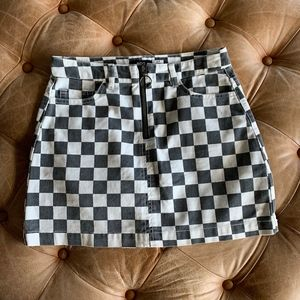 BDG Checkered MINI Skirt Size S